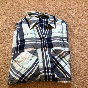 Express blue flannel